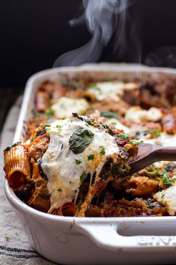 One-Pan Four Cheese Sun-Dried Tomato and Spinach Drunken Pasta Bake   halfbakedharvest.com @hbharvest