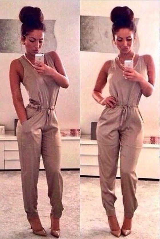 9247c62bd78 New Women Ladies Clubwear V Neck Playsuit Bodycon Party Jumpsuit Romper  Trousers