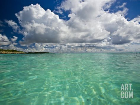 Pristine Turquoise Water Off the Coast of Aruba Photographic Print by Michael Melford at Art.com
