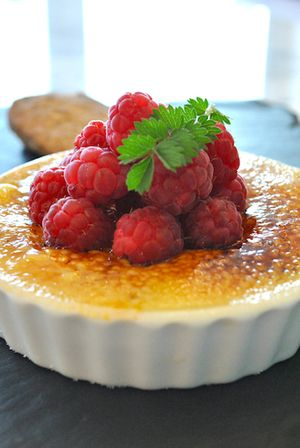 White Chocolate and Raspberry Creme Brulee Recipe by James Mackenzie