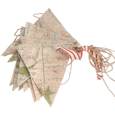 map bunting.