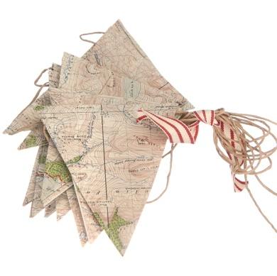bunting: Travel Theme, Antiques Maps, Idea, Boys Rooms, Vintage Maps, Maps Buntings, Maps Banners, Maps Pennant, Repurpo Maps