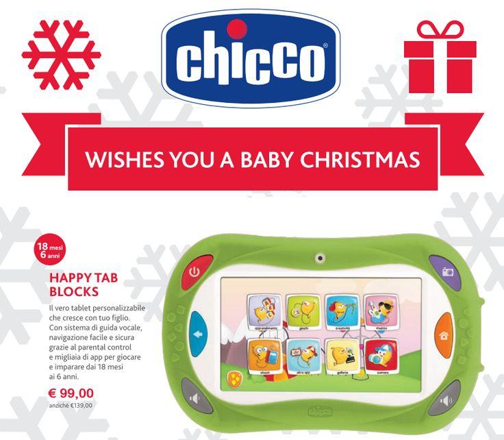 Da oggi e solo fino ad esaurimento scorte il nuovo #HappyTab di #Chicco a soli 99,00 €! Anche online: http://www.bebeconfortsnc.it/prima-infanzia/513-chicco-happy-tab.html Mancano solo 7 giorni a Natale, affrettati!