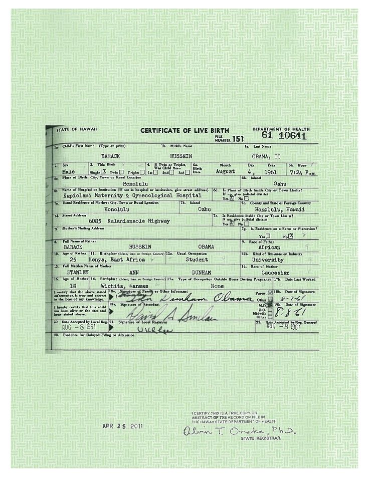 President Obama's Long Form Birth Certificate by White House via slideshare