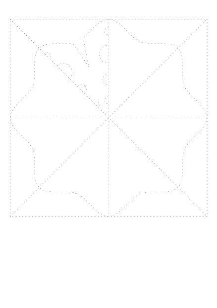 Modèle de flocon de neige à imprimer, découper, plier