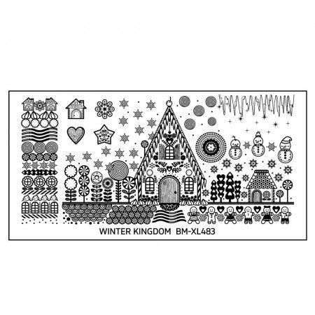 Winter Kingdom Nail Art Polish Stamping Plate - Sweet Cottage