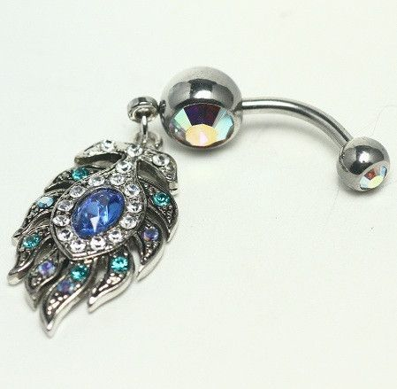 Pictures of Peacock Feather Navel Ring