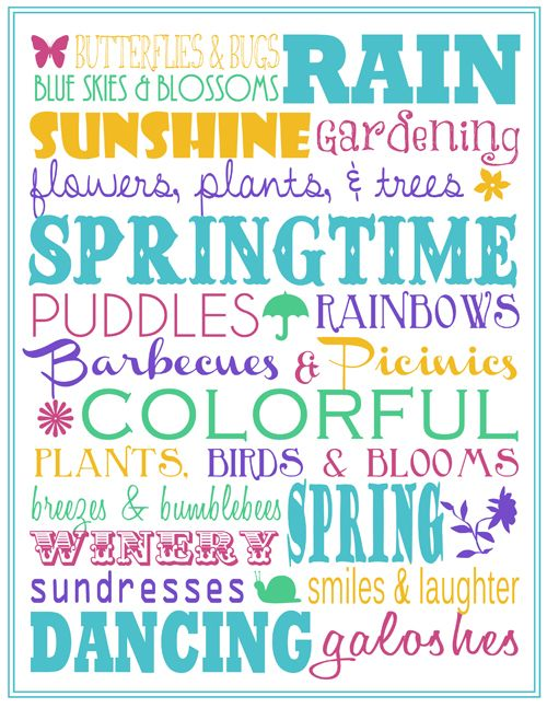 Spring Subway Art Printable