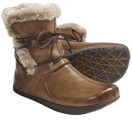 Kalso Earth Central Too Boots Leather Faux Fur Lined