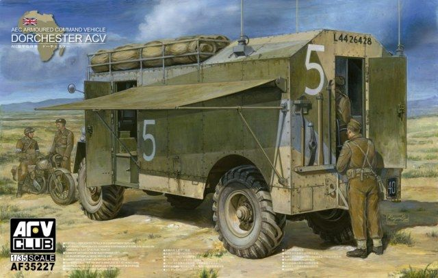 AEC Armoured Command Vehicle Dorchester ACV. AFV Club, 1/35, initial release 2012, No.AF35227. Price: 51,95 EUR (marketplace).