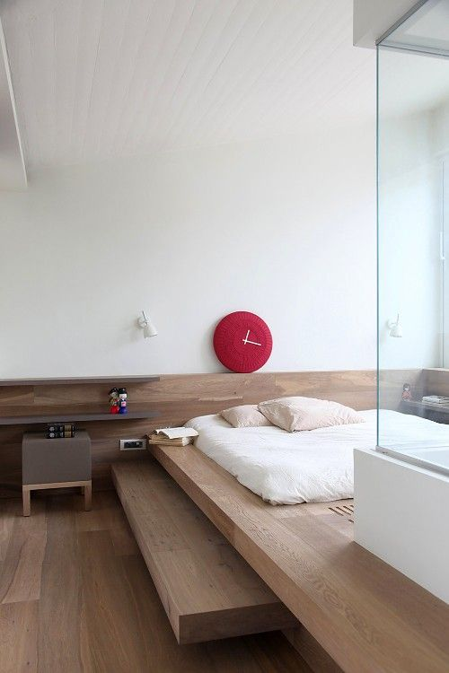 #interior design #modern #minimalism #bedroom #wood floors