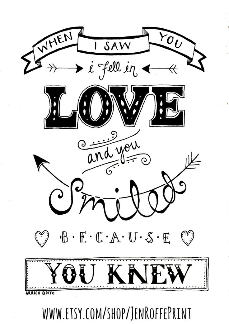 Love. Inspirational Typography Print Black and White