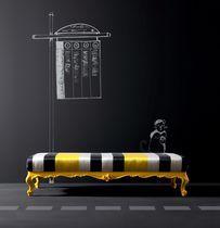 Divanetto imbottito design nuovo barocco / in stile / in tessuto / da interno