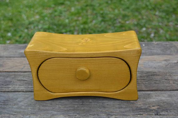 Wooden jewellery box gift for women vintage jewelry storage