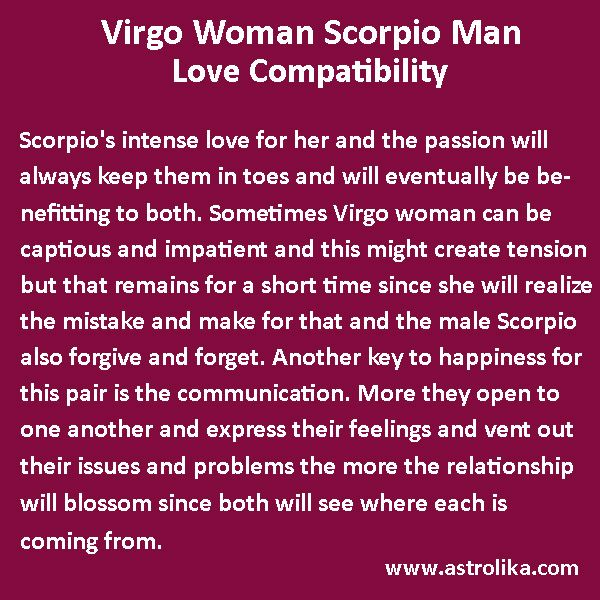 best compatible signs for virgo woman