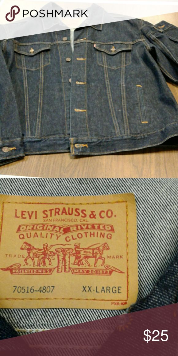 Men's Levi's Denim Jacket ****QUICK PICK FOR QUICK SELL **** Shoulders measures 45 inches, waist measures 48 inches and sleeves are 25 inches long.   SIZE XXL.  LIKE NEW!!!!! Levi Strauss  & Co. Jackets & Coats