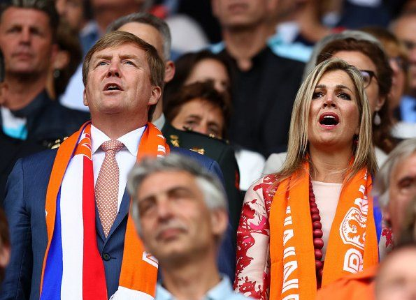 King Willem Alexander and Queen Maxima of the Netherlands watched the UEFA WEURO 2017 (UEFA Women's Euro 2017) Group A match played between Netherlands and Norway at the Galgenwaard Stadium on July 16, 2017 in Utrecht, The Netherlands