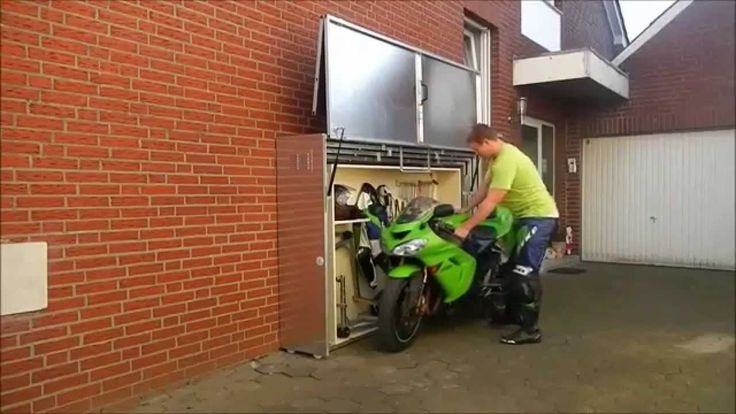 Cool motorcycle storage motorcycles pinterest for Motorcycle storage shed