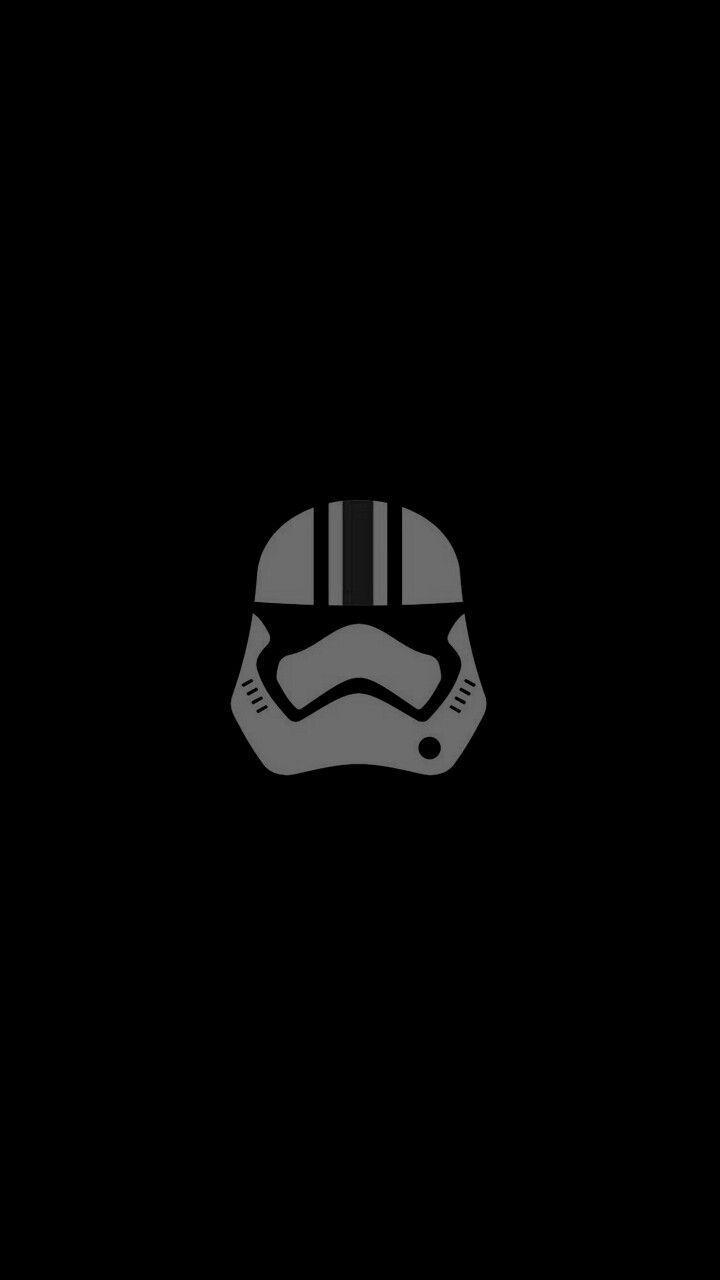 Black Minimalist Wallpaper Stormtrooper Starwars In