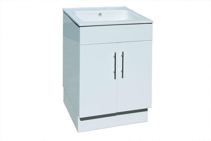 Ceramic Top Laundry Tub, Polyurethane Cabinet - ABL Tile & Bathroom Centre