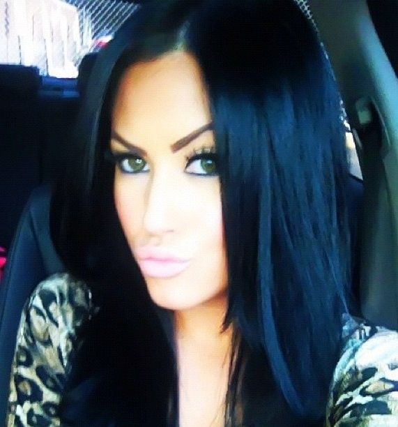 jet black hair with blue tint