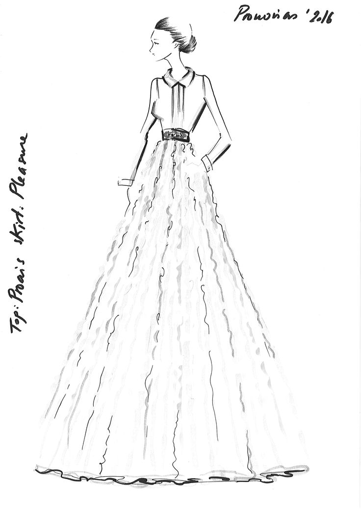 Top: PROAIS, Skirt: PLEASURE #Pronovias2016