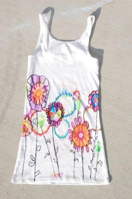 Easy DIY tie-dye (using Rubbing Alcohol & Sharpie Pens) by els1000