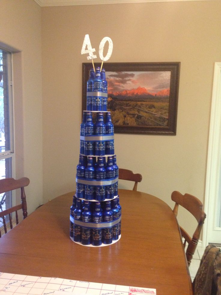 40th Bud Light bottle cake