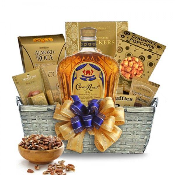 Royalty in a Bottle - Crown Royal Gift Basket | spiritedgifts.com