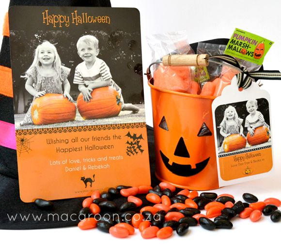 Personalise your Halloween this year - send out Greeting cards, label your treat packs and containers with personalised Halloween greetings from the whole family