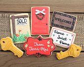 Realtor Closing Gifts / Gift for Realtor / Realtor Gift / New Home Gift / Gift for New Homeowner/ Home Sweet Home Sugar Cookies - 1 dozen