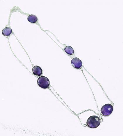 Melanie Woods World Jewellery Amethsyt sterling silver Necklace