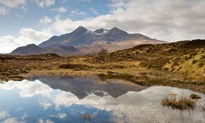 The Cuillin viewed from Sligachan  in 20 great UK walks with #pubs, chosen by nature writers