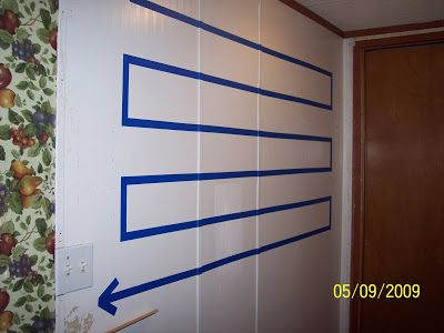 Wall timeline made with painter's tape directly on the wall