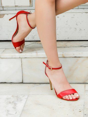 Dolce Vita Kırmızı Topuklu Sandalet