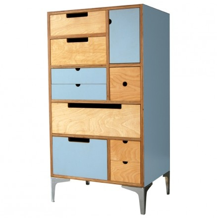 De Steyl Play Play Tall Chest Storage with Metal Legs Available at 5rooms.com