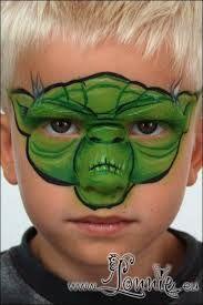 Yoda Face Paint Tutorial