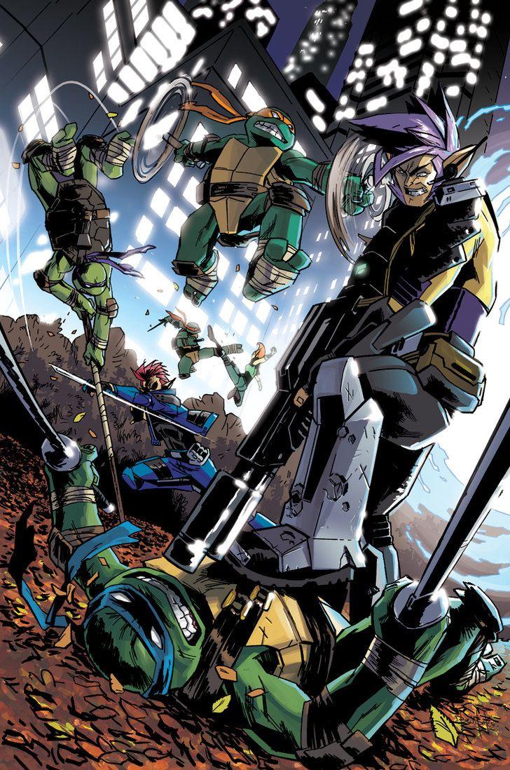 IDW's Teenage Mutant Ninja Turtles 17 cover by BenBates