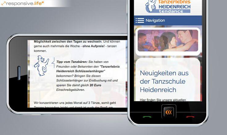 Im Content-Management-System basic.life verhalf echonet der Tanzschule Heidenreich im 10. Bezirk in Wien zu einem neuen Webauftritt.  Tanzschule Heidenreich / www.tanzschule-heidenreich.at [Responsive Smartphones] © echonet communication GmbH
