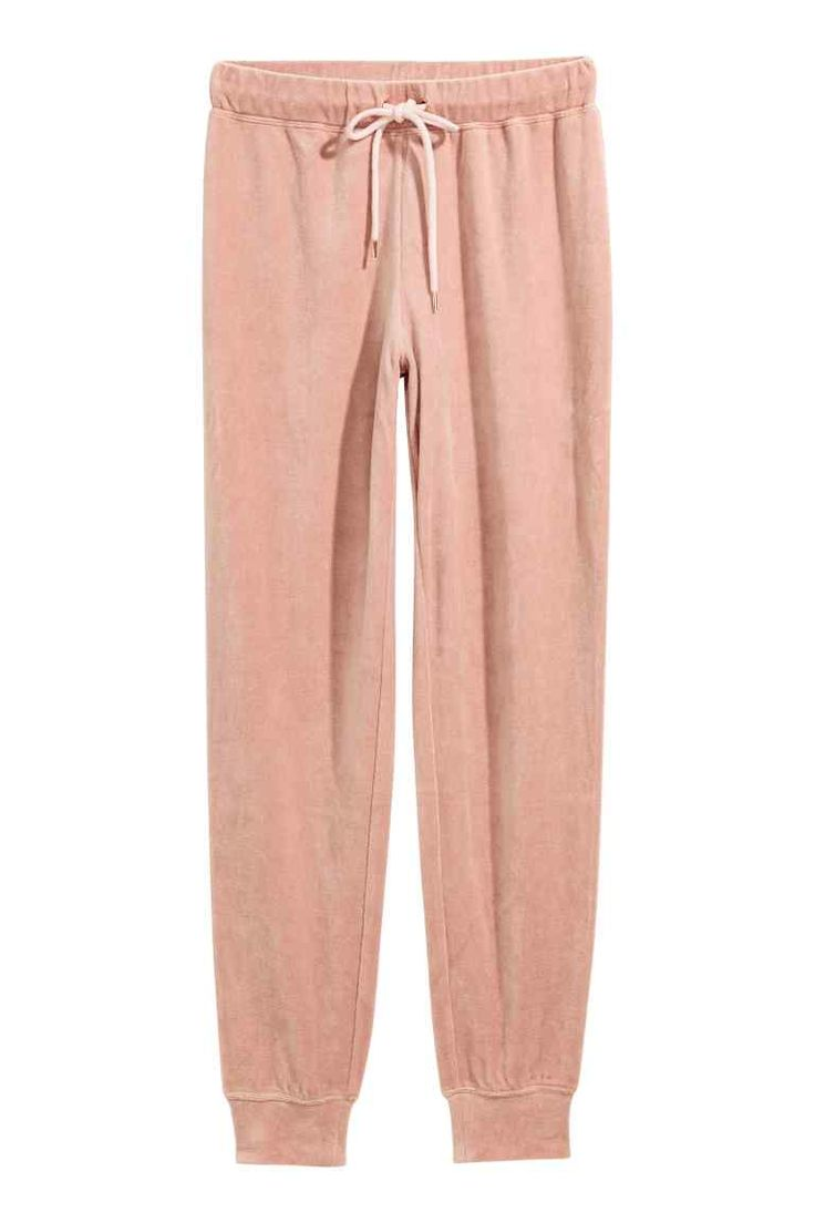 Velours pyjamabroek - Roze - DAMES | H&M NL
