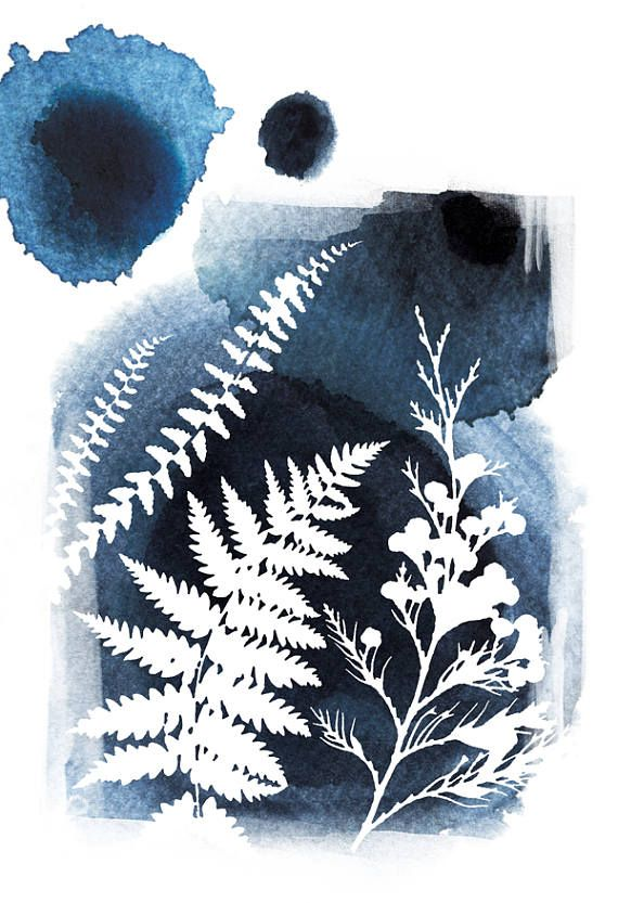 Botanical watercolor wall art leaf art print poster nature