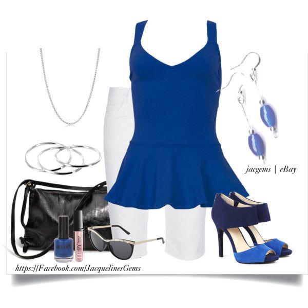 """Penny Auction Fashion Set Sapphire"" by jacqueline-jordan on Polyvore. Penny Auctions http://dld.bz/jacgemsauctionsonly"