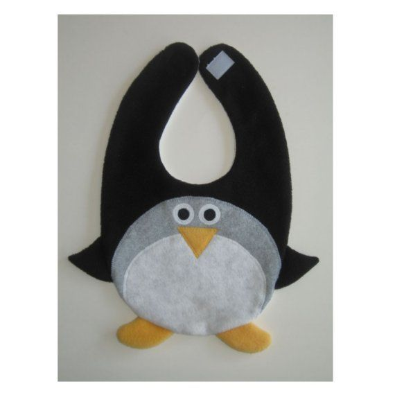 Penguin Bib by DinkyDimples on Etsy, $20.00: Idea, Baby Nurseries Penguins, Baby King, Penguins Nurseries, Penguins Bibs, Baby Bibs, Animal Bibs, Baby Penguins, Baby Stuff