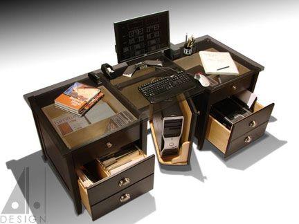 custom computer desk by alan harp design - Custom Desk Design