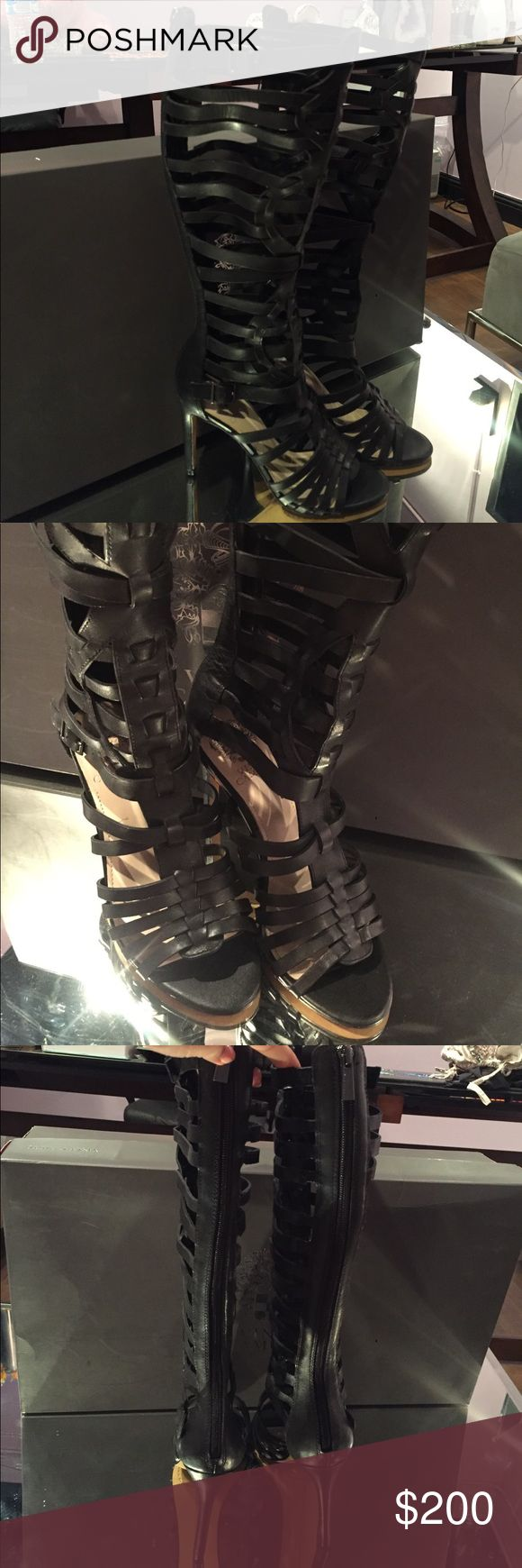 🖤 Bimce Camuto Kase Gladiator Boots ✨ On Consignment ✨ Beautiful leather gladiators never worn in new in box condition! Gorgeous. Size 7 Vince Camuto Shoes Lace Up Boots