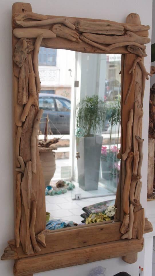 καθρέπτης από θαλασσόξυλα /driftwood  mirror...100χ55 cm