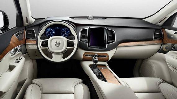 Интерьер внедорожника Volvo XC90 T8 2016 / Вольво ХС90Т8 2016