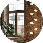 Création Lumière, lampe et design Celine Wright : COURANT D'AIR. Branchement au plafond