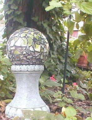 Art of Recycling by the Garage Sale Queen: DIY Bowling Ball - Mirror Gazing Ball