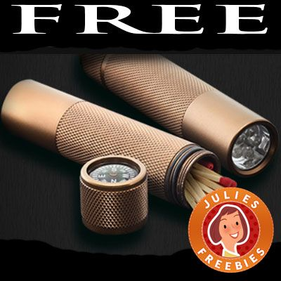 FREE 3 in 1 Flashlight, Compass and Match Holder